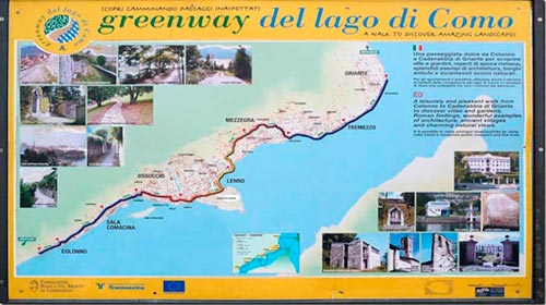 Greenway cartina