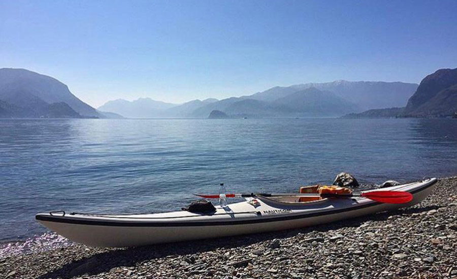 spiaggia di rezzonico (acquaseria) e canoa
